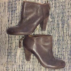 Brown booties with awesome details